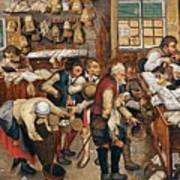 Peasants Paying Tithes By Pieter Bruegel I Poster