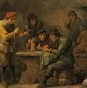 Peasants Playing Dice Poster
