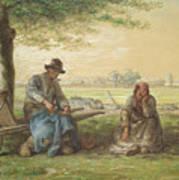 Peasants Resting Poster