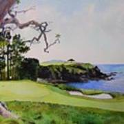 Pebble Beach Gc 5th Hole Poster by Scott Mulholland