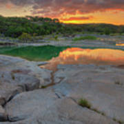 Pedernales River Sunrise, Texas Hill Country 8257 Poster
