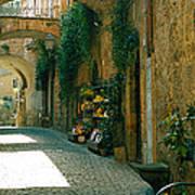 Pedestrian Walkway, Orvieto, Umbria Poster