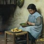 Peeling Potatoes Poster