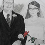 Peggy And John Taylor Wedding Portrait Poster