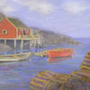 Peggy's Cove Lobster Pots Poster