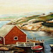 Peggys Cove Nova Scotia Landmark Poster
