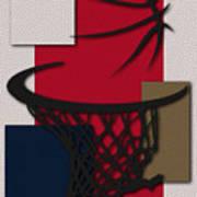 Pelicans Hoop Poster