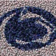 Penn State Bottle Cap Mosaic Poster by Paul Van Scott