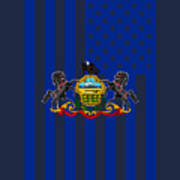 Pennsylvania State Flag Graphic Usa Styling Poster