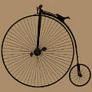 Penny Farthing Sepia Poster