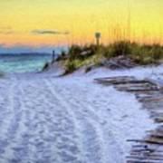Pensacola Beach Orange Poster
