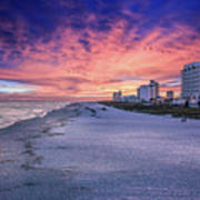 Pensacola Beach Vibrant Sunset Poster