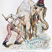 Pension Cartoon, 1893 Poster