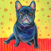 Pensive French Bulldog Painting Prints Poster