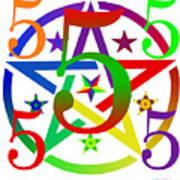 Penta Pentacle White Poster