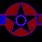 Pentagram In Red Poster