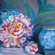 Peony And Chinese Vase Poster
