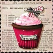 Peppermint Stick Christmas Cupcake Poster