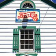 Pepsi Window At Ambler's Texaco Gas Station Poster