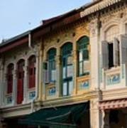 Peranakan Architecture Design Houses And Windows Joo Chiat Singapore Poster