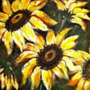 Perfect Beauty Sunflower Poster