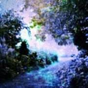 Fantasy Garden Path Periwinkle Poster