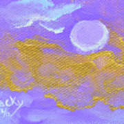 Periwinkle Moon Poster