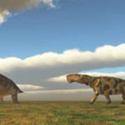 Permian Inostrancevia Hunts Keratocephalus Poster