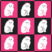 Persian Cat Pattern Poster