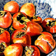 Persimmons Poster by Nadi Spencer