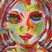 Persistence - Contemporary Art Face Poster