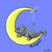 Personalized Ll Gray Tabby Poster