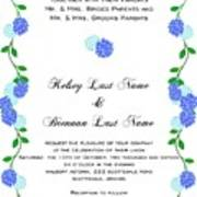 Personalized Wedding Invitations Poster