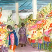 Peruvian Flower Market Poster