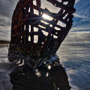 Peter Iredale Shipwreck Poster