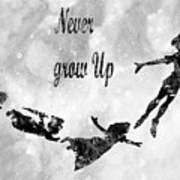 Peter Pan-black Poster