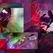 Petunia Collage Poster