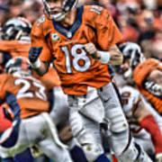 Peyton Manning Art 2 Poster