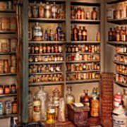 Pharmacy - Get Me That Bottle On The Second Shelf Poster by Mike Savad