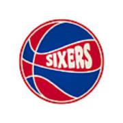 Philadelphia 76ers Retro Shirt Poster