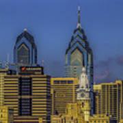 Philadelphia City Hall Skyline Poster