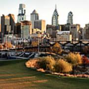 Philadelphia Cityscape From Penn Park In University City Poster