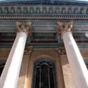 Philadelphia Classical Pillars - Looking Up Poster