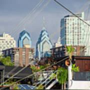 Philadelphia From Penns Landing Poster