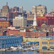 Philadelphia - From The Ben Franklin Bridge Poster