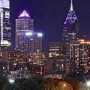 Philadelphia Full Moon Panorama Poster