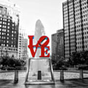 Philadelphia - Love Statue - Slective Coloring Poster