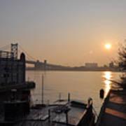 Philadelphia - Penn's Landing Sunrise Poster