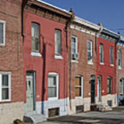 Philadelphia Row Houses Poster