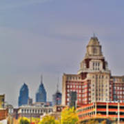 Philadelphia Skyline From Camden Waterfront Poster